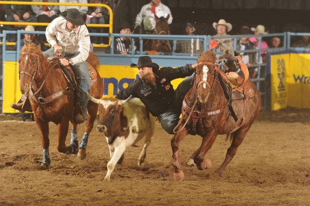 Four-time World Champion Steer Wrestler Luke Branquinho says his best shot at gold in the Winter Olympics would be in hockey.  --ProRodeo photo by Greg Westfall
