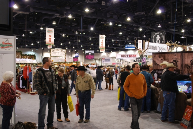 Thousands of rodeo fans file into the Las Vegas Convention Center each year for Cowboy Christmas.