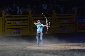 Olympic silver medalist archer Brady Ellison was part of the opening ceremony for Round 1.  (PRCA ProRodeo photo by Greg Westfall)