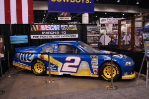 One of newly crowned NASCAR champion Brad Keselowski's No. 2 Miller Lite Dodge's is on display at Fanfest.