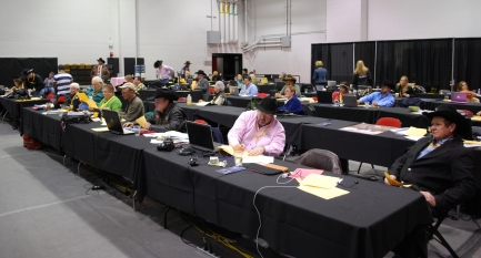 The Wrangler NFR press room was the place to be as world titles were decided Saturday.