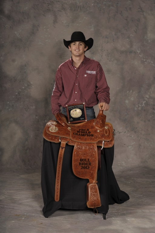 Cody Teel became the youngest World Champion Bull Rider in ProRodeo history in December at age 20.  --PRCA photo by Mike Copeman