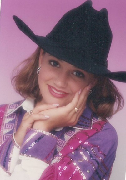 Fallon Taylor moved away from the barrel racing world after 1998 to pursue modeling and various other opportunities.  --WPRA photo by Kenneth Springer