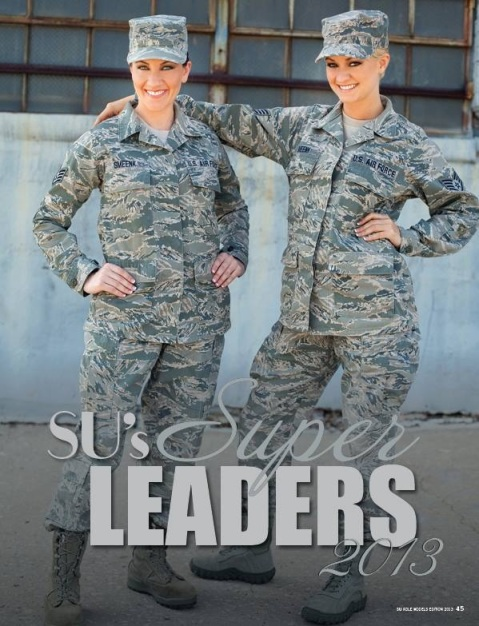Jenna Smeenk, right, followed her sister, Trisha, into the Air Force.