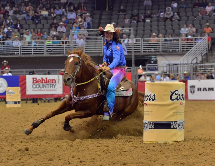 Newly named AQHA/WPRA Barrel Racing Horse of the Year, Babyflo is a quick mare Fallon Taylor believes can take her to a world title.  --WPRA photo by Greg Westfall