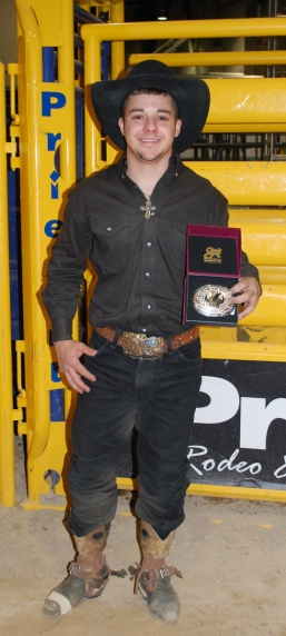 Aaron Pass won the inaugural Exclusive Genetics Million Dollar Bucking Bull & Rider Tournament at Cowboy FanFest.
