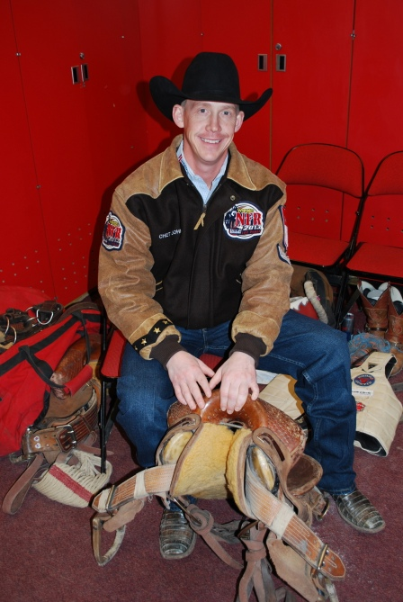 Four-time Wrangler NFR saddle bronc rider Chet Johnson tried switching away from his old, trusty saddle at the beginning of the season, but eventually switched back to it.