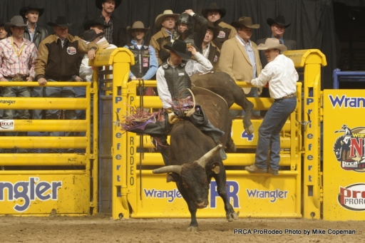 Elliot Jacoby finished fifth in Round 1, but has struggled since then at his first Wrangler NFR.