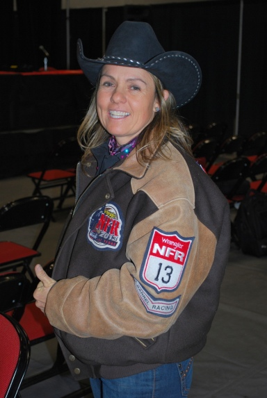Barrel racer Michelle McLeod hasn't been bothered by wearing back No. 13 this year and said she'd wear it again next year without a problem.