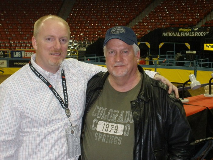 Being able to show my dad, Jimmy, a behind-the-scenes look at the Wrangler NFR in 2009 was one of the coolest moments I've had in my 10 years covering the rodeo in Las Vegas.