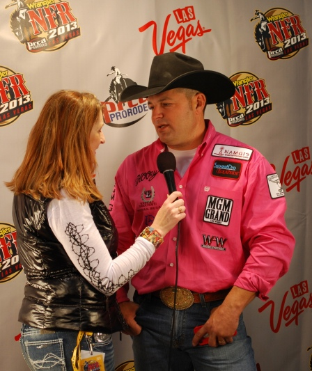 Cody Ohl is becoming a fixture in the Wrangler NFR press room, where he has been mobbed by reporters and asked to do interview after interview.