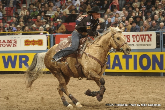 Sherry Cervi's palomino mare Stingray carried her to the 2010 world championship, and she's hoping for the same this year.