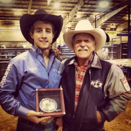 Sage Kimzey has no doubt made his father, Ted, a two-time Wrangler NFR barrel man, a proud papa this year.