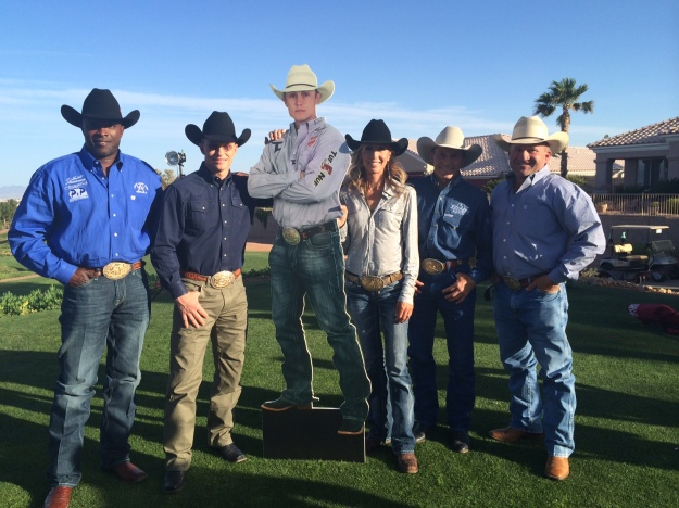 One of the all-time legends of ProRodeo, Ty Murray (second from left) usually keeps good company while in Las Vegas.  --Las Vegas Events photo