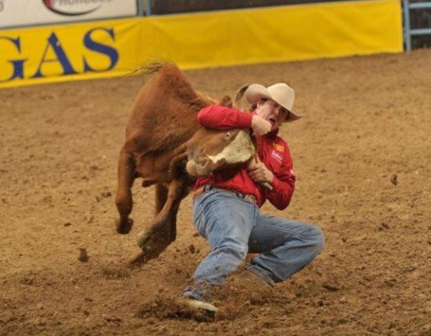 Nick Guy qualified for the 2010 Wrangler National Finals Rodeo, ultimately finishing 12th in the world.  --PRCA ProRodeo photo by Mike Copeman