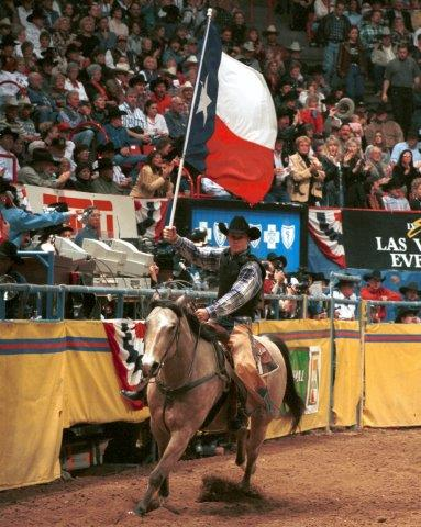 Ty Murray worked hard to return from injuries and was dialed in and focused in 1998.  --PRCA photo by Mike Copeman