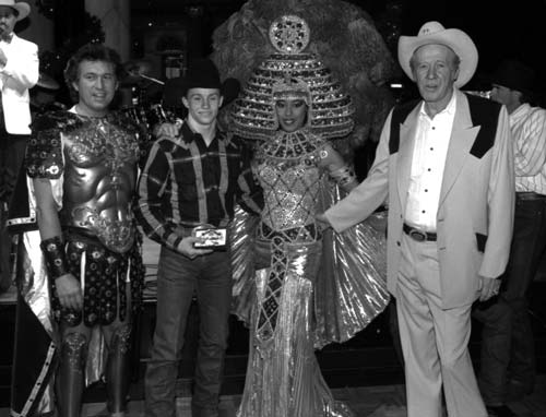 Las Vegas has always been a special place for Ty Murray, shown here with legendary gambler Amarillo Slim, right.