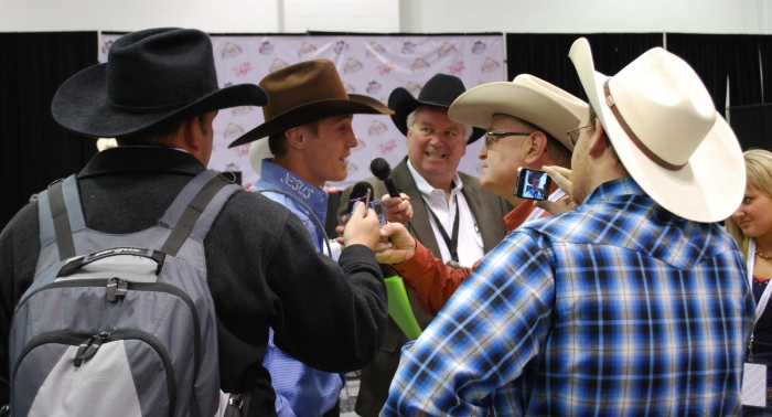 Tuf Cooper will likely be bombarded by interested media again this year at the Wrangler NFR as he goes for gold buckle No. 3.