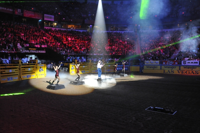 The Wrangler National Finals Rodeo is always a great show for the more than 17,000 fans who file into the Thomas & Mack Center every year.