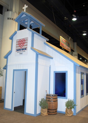 The Rope 'Em In Wedding Chapel Powered by Zappos.com is one of the big new additions to Cowboy FanFest this year, and rodeo fans can get married there during the Wrangler NFR's run in Las Vegas.