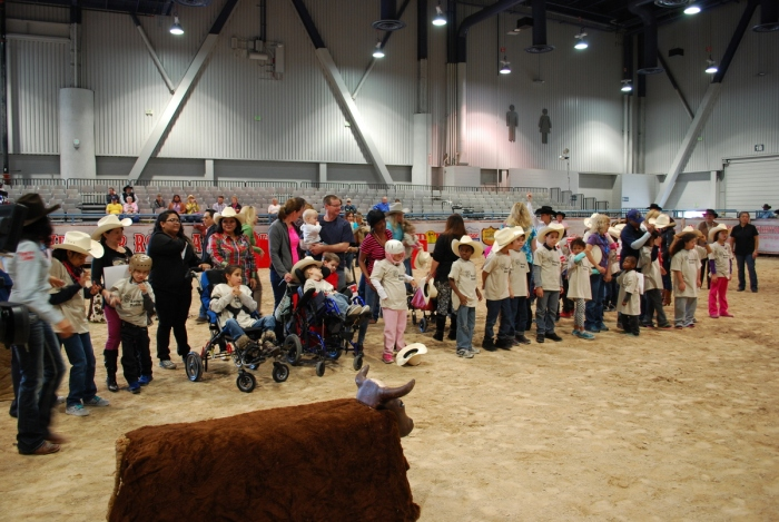 Nearly 30 special-needs children from Las Vegas-area schools attended the 32nd annual Wrangler NFR Exceptional Rodeo at Cowboy FanFest on Monday morning.