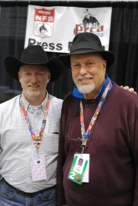 My good friend Jim Bainbridge has done a great job running the Wrangler NFR press room for eight years.  --Photo by Deanna Kristenstensen