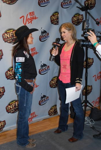 Lisa Lockhart was back in the Wrangler NFR press room on Wednesday night after winning Round 7 and hopes to give Fallon Taylor a run for her money in the final three rounds.