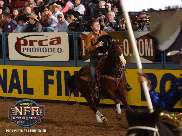 Tie-down roper Marty Yates is tied with bull rider Sage Kimzey for most Wrangler NFR round victories through the first seven rounds with three.