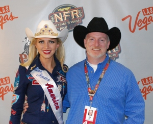 Miss Rodeo America 2015 Lauren Heaton was nice enough to chat with me before Round 8 of the Wrangler NFR.  --Photo by Ted Harbin