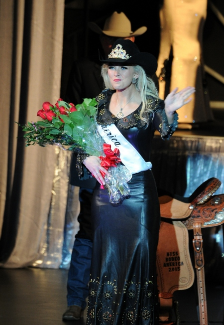 Miss Rodeo Oklahoma Lauren Heaton was crowned Miss Rodeo America 2015 at MGM Grand on Saturday afternoon.  --PRCA photo by Eva Scofield