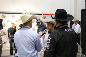 World Champion Bull Rider Sage Kimzey has been a regular in the Wrangler NFR press room this week after winning four rounds, the average, Ram Top Gun Award and gold buckle.