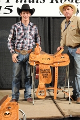 Tim O'Connell with his rodeo coach Ken Mason (c)Dan Hubbell