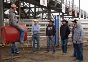 1992 world champion bull rider Cody Custer talking about the fine points of bull riding