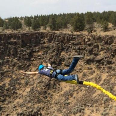 Steven Peebles bungee jumping