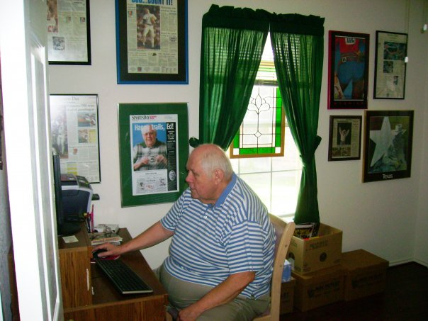 ed in his office