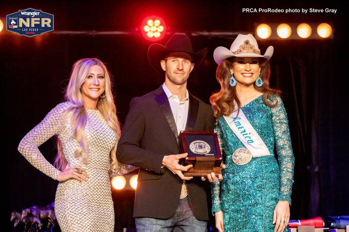 WNFR2019_Awards_Excellence In Print Journalism_Shane Hanchey_Photo by Steve Gray